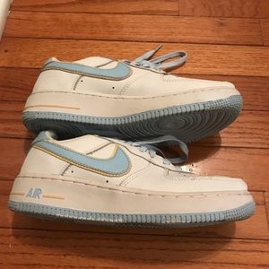 Nike Shoes - Nike Air Force 1, baby blue and white, size 7